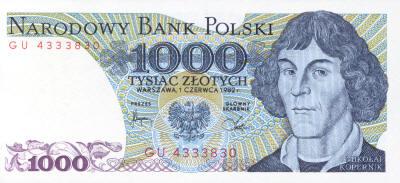 Copernicus 1000 Polish Zloty