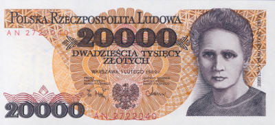 Marie Curie 20000 Polish Zloty