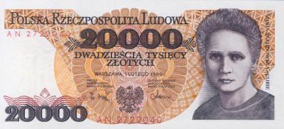 Marie Curie 20000 Polish Zloty