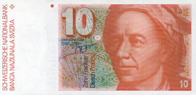 Leonhard Euler 10 Swiss Francs