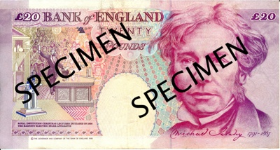 Faraday 20 British Pounds