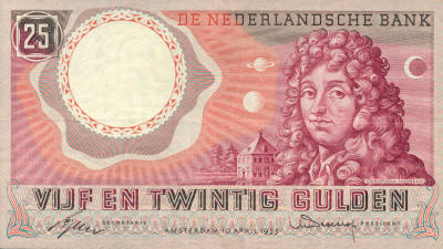 Huygens 25 Dutch Guilder