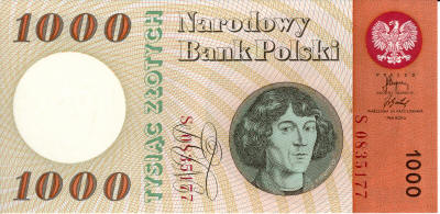 Copernicus 1000 Polish Zloty (old)