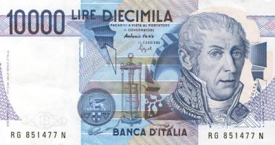 Volta 10000 Italian Lire