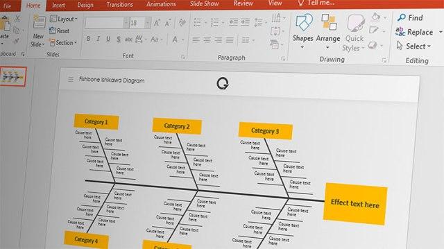 Fishbone Ishikawa Diagram Template for PowerPoint Presentation | Blog Eris
